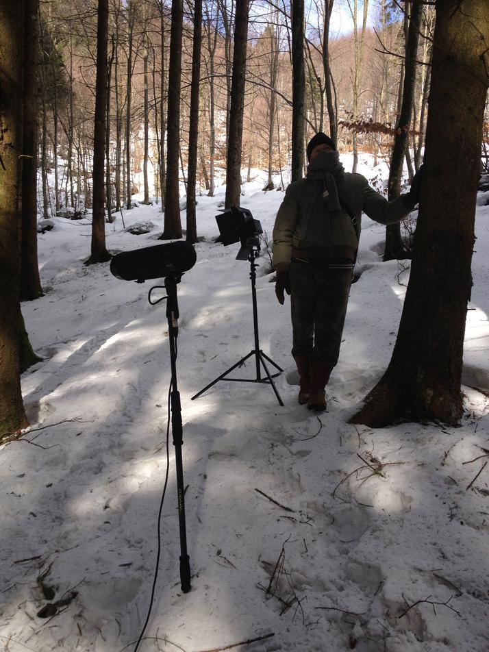 Fonico nella neve