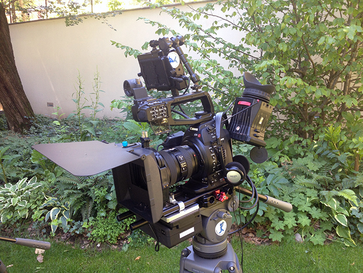 Canon C100 rig